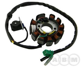 Статор генератора 11-ти катушечного 152QMI, 157QMJ 125cc / 150сс